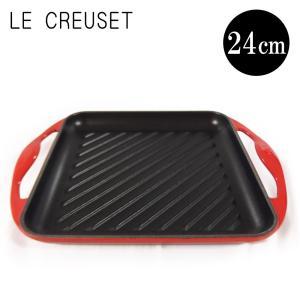 ルクルーゼ LeCreuset グリル・カレ 24cm Gril Carre 20127 ホーロー フライパン グリルパン 【送料無料】|gport