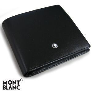 モンブラン MONTBLANC マイスターシュテュック MEISTERSTUCK ウォレット 2つ折り財布 ブラック 7164 【送料無料】|gport