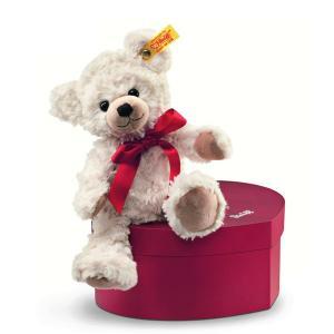 シュタイフ Steiff テディベア スイートハート クリーム 22cm Sweetheart Teddy bear 109904 ハート型ケース付き くま ぬいぐるみ 熨斗不可|gport