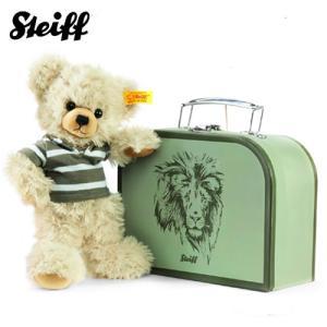 シュタイフ Steiff テディベア レニー イン スーツケース 23cm Lenni Teddy bear in suitcase 111211 スーツケース付き ぬいぐるみ くま 熨斗不可|gport