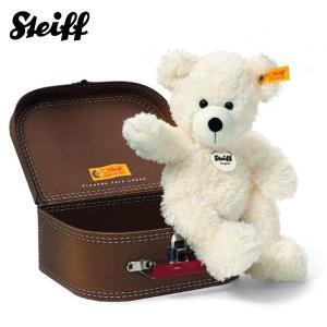 【訳あり/スーツケース傷み】 シュタイフ Steiff ロッテ スーツケース テディベア ホワイト LOTTE Teddy bear in suitcase 111464 【熨斗不可】 gport