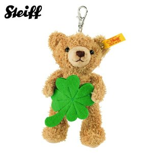 シュタイフ Steiff キーリング ソフトテディベア ラッキーチャーム 12cm Keyring lucky charm Teddy bear 111877 キーホルダー くま 熨斗不可|gport