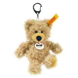 シュタイフ Steiff キーリング テディベア チャーリー ベージュ 12cm CHARLY Teddy bear Keyring 111884 くま キーホルダー 熨斗不可|gport