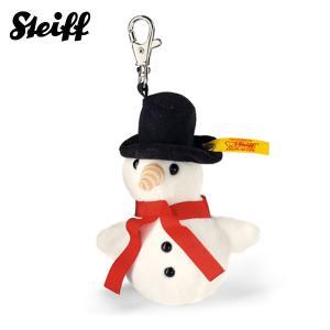 シュタイフ Steiff ソフトキーリング スノーマン 10cm Keyring Frosty snowman,white 112331 雪だるま キーホルダー 熨斗不可 在庫限り|gport
