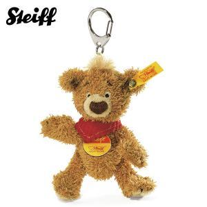 シュタイフ Steiff クノップ テディベア キーリング キーホルダー ブラウン KNOPF Teddy bear Keyring 14475 【熨斗不可】|gport