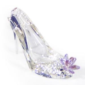 スワロフスキー SWAROVSKI クリスタル フィギュア ハイヒールと花 ガラスの靴 #5493712 インテリア 置物 〇 熨斗不可 gport