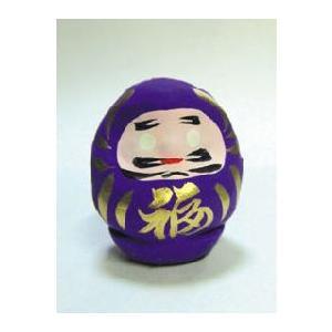 風水カラーだるま(ミニサイズ)紫(ダルマ・達磨)