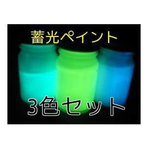 暗所で発光する蓄光塗料 蓄光ペイント 3色セット(各20ml)|gppro