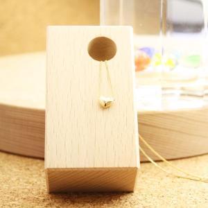 ぷっくりハートのネックレス K18YG 【Ririn】 |gpre