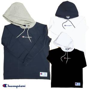 Champion/チャンピオン/ロングスリーブフードTシャツ/C3-M414/ACTION STYLE|gpstore