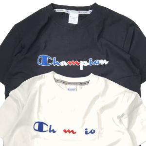 Champion チャンピオン Tシャツ メンズ ストリート スクリプトロゴ 刺繍 トリコロール ネコポス便 送料無料 gpstore