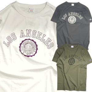 Champion チャンピオン Tシャツ 半袖 メンズ アメカジ カレッジ プリント ロサンゼルス Mens T-shirt College LA (ネコポス便)|gpstore