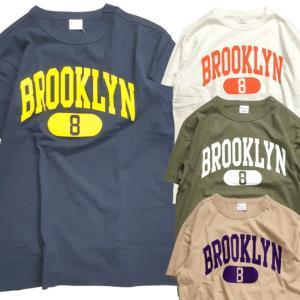 Champion チャンピオン Tシャツ 半袖 メンズ  ブルックリン BROOKLYN ホワイト ネイビー オリーブ ベージュ (ネコポス便)|gpstore