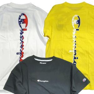 Champipon チャンピオン Tシャツ 半袖 メンズ カットソー 吸汗速乾 スクリプトロゴ バックプリント ジム トレーニング (ネコポス便)|gpstore