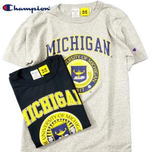 Champion チャンピオン Tシャツ 半袖 メンズ  T-shirts アメリカ製 USA ミシガン MICHIGAN T1011 ティーテンイレブン (ネコポス便/送料無料)|gpstore