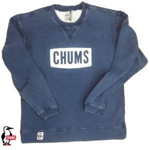 CHUMS/チャムス/Boat Logo Crew Top Indigo/ボートロゴクルートップインディゴ/CH00-1096|gpstore