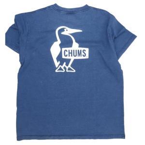 CHUMS/チャムス/Booby Logo T-Shirt Indigo/ブービーロゴTシャツインディゴ/CH01-1339|gpstore