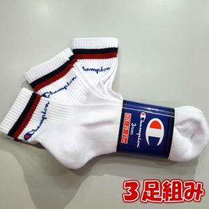 Champion/チャンピオン/Script Quarter Length 3p Socks/スクリプトロゴクォーターレングス3足組み靴下/CMSCK101|gpstore