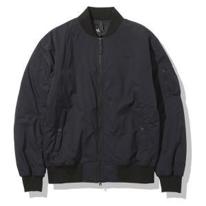 THE NORTH FACE ノースフェイス メンズ ジャケット アウター MA-1 ミリタリー Jacket Mens ストレッチ 撥水 ブラック黒|gpstore