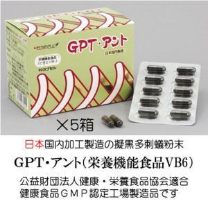 送料無料・日本製・エイエヌティー+B6で栄養機能食品はGPT・アント5箱セット擬黒多刺蟻の粉末|gpt