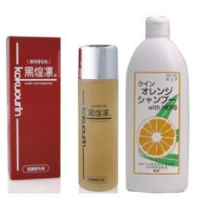 薬用育毛剤・黒煌凛+クインオレンジシャンプー400mlセット|gpt