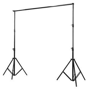 撮影用 背景スタンド 伸縮式スタンド 横幅伸縮自在ポールで微調整可能 撮影機材ST-1-L
