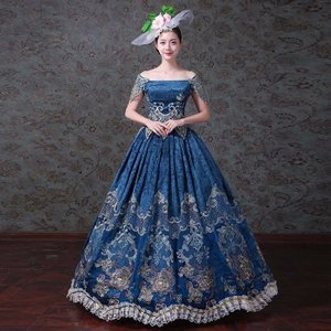 556e59a7e80e7 中世 ヨーロッパ風 貴族服装 貴婦人 演出服 新劇演出服 現代劇演出服 豪華な女王 王族服 復古風 パーティードレス ウェディングドレス パニエ追加可