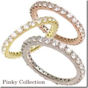 選べる3色 幸せのお守り フルエタニティリング|ピンキーリング|小指の指輪|ファランジリング|関節リング|ミディリング|me. ミー||gradior