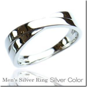 2本のリングが交差したようなデザインクロスラインペアリングシルバーカラーとピンクカラー2本セット |gradior|02