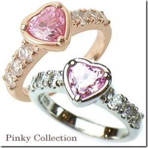 選べる2色 幸せのお守り ピンクハート ピンキーリング|小指の指輪|ファランジリング|関節リング|ミディリング|With me.ウィズミー||gradior