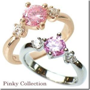 選べる2色 幸せのお守り 愛されピンクスリーストーン ピンキーリング|小指の指輪|ファランジリング|関節リング|ミディリング|With me.ウィズミー||gradior