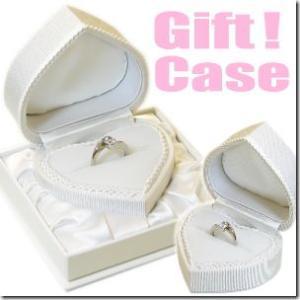 純白のハートで気持ちを伝える ハートのブライダルリングケース|ブライダルジュエリーケース|結婚指輪入れ|ウエディングリングケース|プロポーズ|gradior