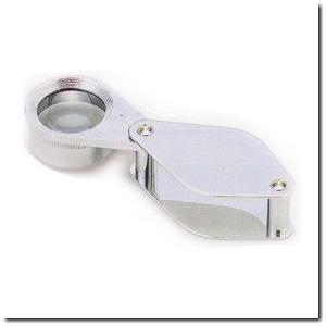 ビギナー向けレンズが17mmと大きめの宝石用10倍ルーペ|gradior
