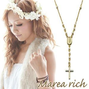 ロザリオ Yチェーンペンダント ゴールド×サンゴ×オニキス×パール【Marea rich/マレア リッチ】|gradior|02