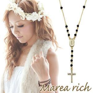 ロザリオ Yチェーンペンダント ゴールド×サンゴ×オニキス×パール【Marea rich/マレア リッチ】|gradior|03