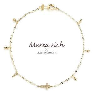 K10ゴールド×ダイヤモンド クロスモチーフブレスレット【Marea rich/マレア リッチ】GD-10KJ-04|gradior