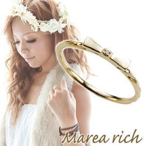 K10ゴールド×ダイヤモンド リボンモチーフリング【Marea rich/マレア リッチ】|gradior