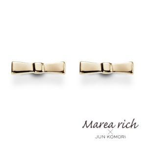K10ゴールド リボンモチーフピアス【Marea rich/マレア リッチ】GD-10KJ-07|gradior