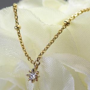 K10ゴールド×ダイヤモンド シンプルスターネックレス【Marea rich/マレア リッチ】|gradior
