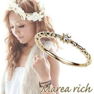 K10ゴールド×ダイヤモンド 6本爪シンプルリング【Marea rich/マレア リッチ】|gradior