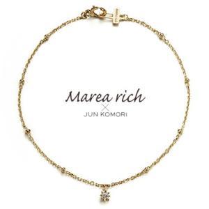K10ゴールド×ダイヤモンド シンプルスターブレスレット【Marea rich/マレア リッチ】GD-10KJ-11|gradior