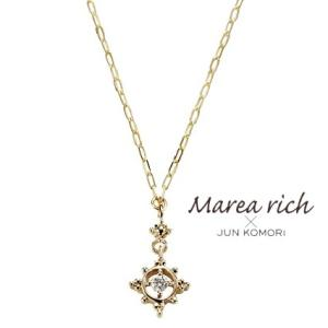 K10ゴールド×ダイヤモンド マリンモチーフ プチネックレス【Marea rich/マレア リッチ】|gradior