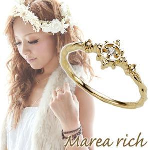 K10ゴールド×ダイヤモンド マリンモチーフリング【Marea rich/マレア リッチ】|gradior