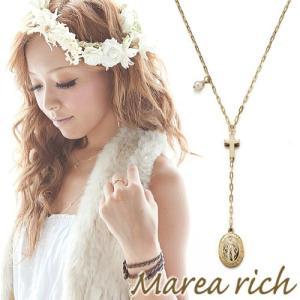 K10ゴールド×ダイヤモンド×淡水パール クロス ロザリオ リバーシブルYネックレス【Marea rich/マレア リッチ】|gradior