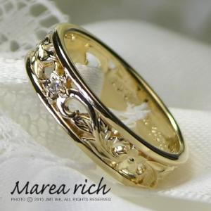 K10ゴールド×ダイヤモンド ハワイアンリング【Marea rich/マレア リッチ】GD-11KJ-03|gradior