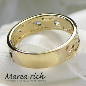 10金ゴールド ダイヤモンド 透かしハワイアン リング 指輪 レディースジュエリー 人気ブランド|クリスマスプレゼント|ホワイトデーお返し|gradior|02