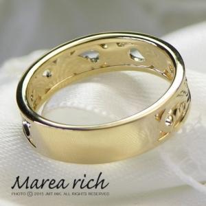 K10ゴールド×ダイヤモンド ハワイアンリング【Marea rich/マレア リッチ】GD-11KJ-03|gradior|02