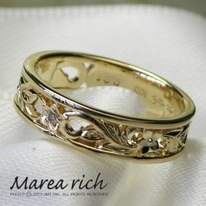 K10ゴールド×ダイヤモンド ハワイアンリング【Marea rich/マレア リッチ】GD-11KJ-03|gradior|03