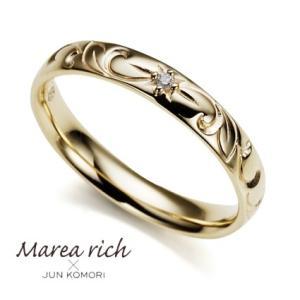 K10ゴールド×ダイヤモンド ハワイアンリング【Marea rich/マレア リッチ】|gradior