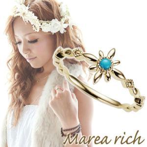 K10ゴールド×ターコイズ スター ハワイアンリング【Marea rich/マレア リッチ】|gradior